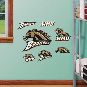 Western Michigan Broncos - Team Logo Assortment Fathead Wall Decal